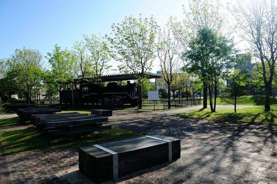 幸町公園にて