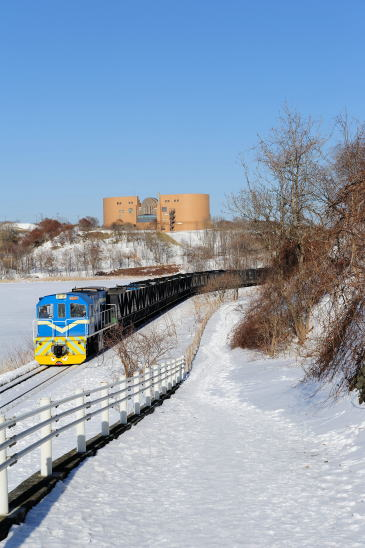 市立博物館と石炭列車