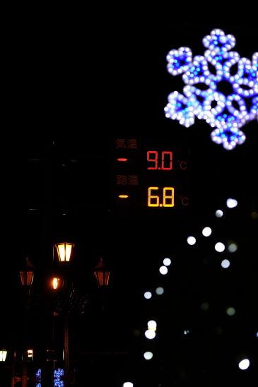 冬の夜の北大通