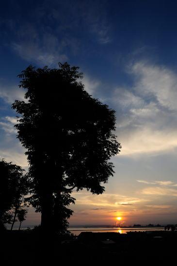 舟見坂からの夕日