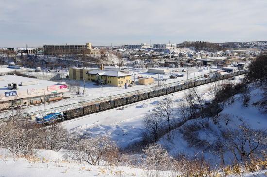 春採駅に停車中の石炭列車