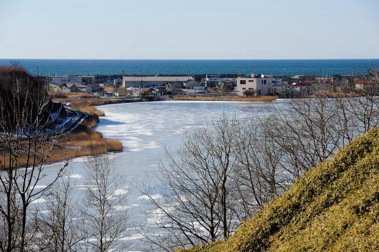 春採湖と千代ノ浦の町、太平洋