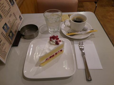ケーキセット(ショートケーキ)