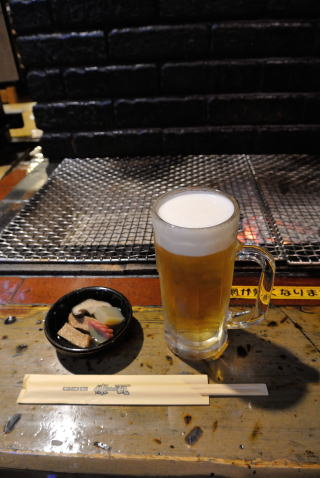 お通し、生ビール