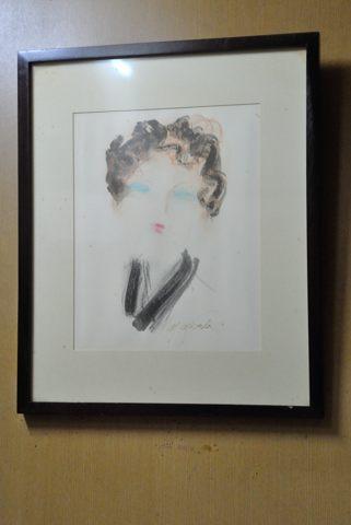 画家 増田誠さんが即興で描いた肖像画