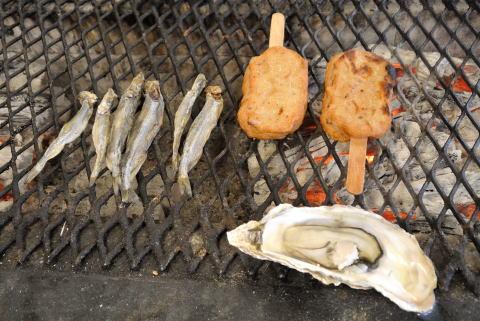 ししゃも、釧路かまぼこ、牡蠣