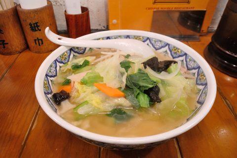 野菜ラーメン (刀切麺)