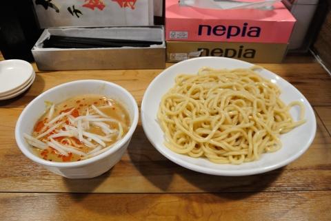 味噌つけ麺(中)、極太麺、冷もり