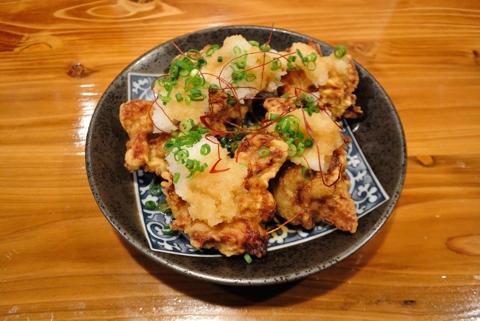 おろしポン酢で鶏の唐揚げ