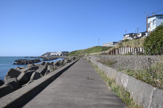 弁天ヶ浜の堤防