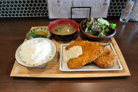 アジフライ&コロッケ定食