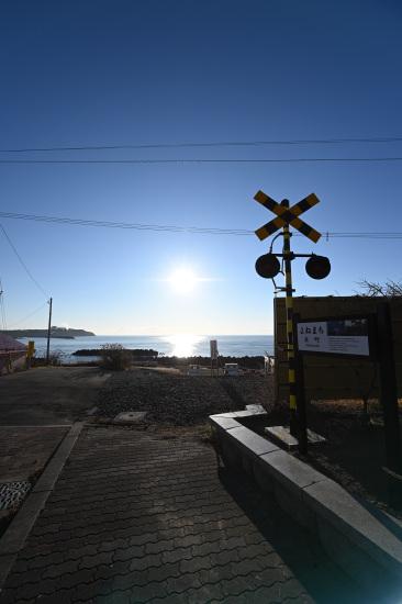 移築された旧米町踏切警報機