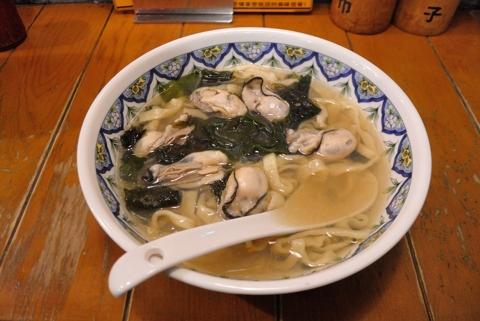 冬かきラーメン(刀切麺)