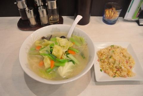 野菜タンメン+半炒飯セット