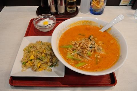 担々麵+半炒飯(