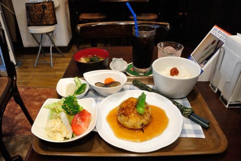 ランチセット(豆腐とひじきのハンバーグステーキ和風味)