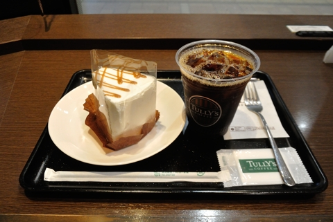 アイスコーヒーTサイズ)、紅茶のシフォンケーキ