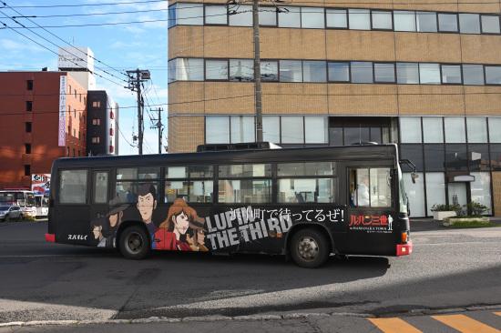 """くしろバス """"ルパン三世""""ラッピングバス"""